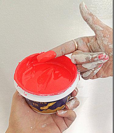 Lip Art wall paint