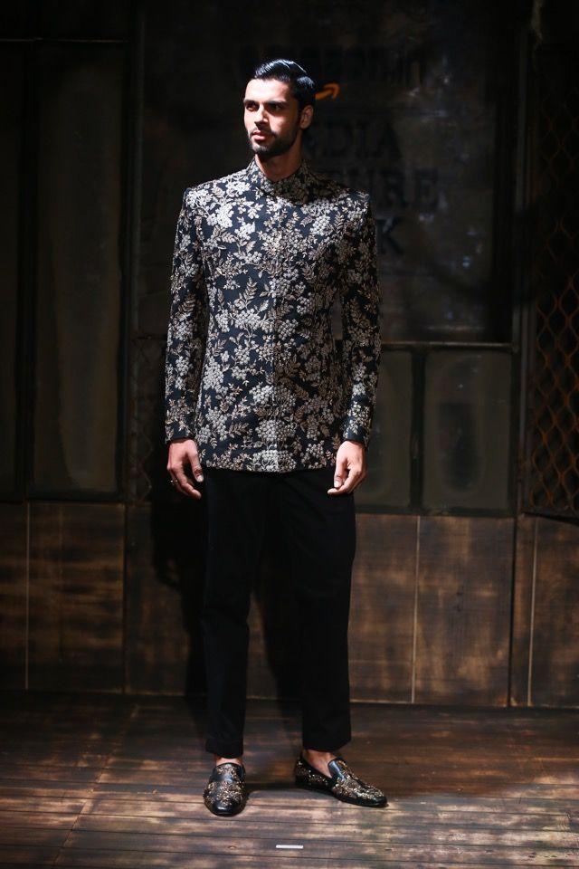 Black achkan sabyasachi, with pants