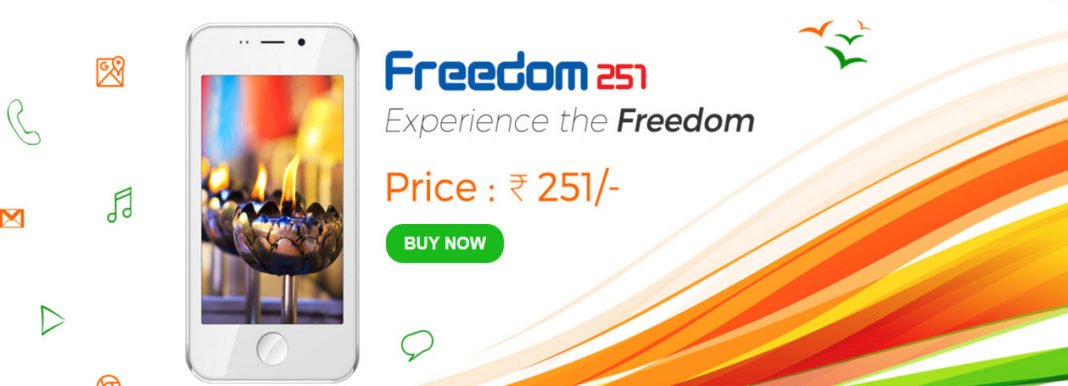 Smartphone at Rs 251 Freedom251