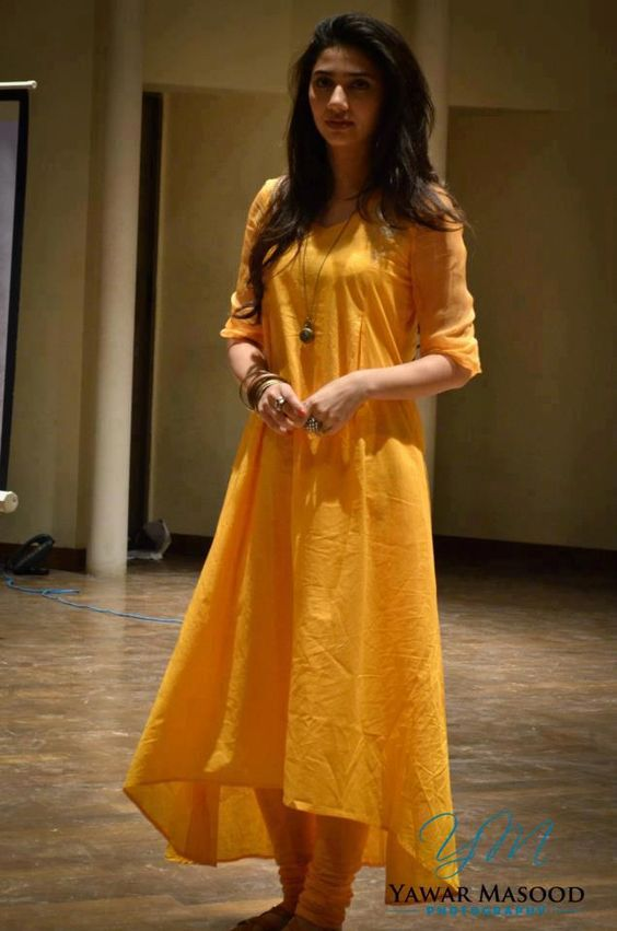 Mahira Khan in yellow