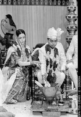 Mukesh Ambani & Tina Ambani marriage photos