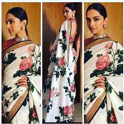 Deepika Padukon in Sabyasachi Floral saree