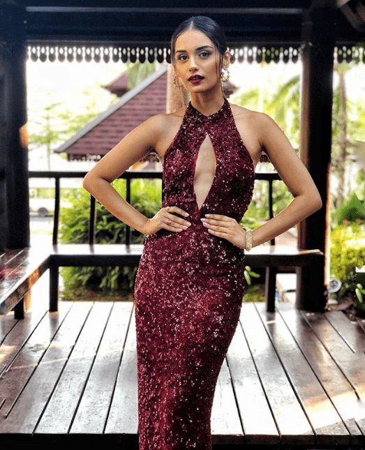 Manushi Chillar's Red Sequin Gown